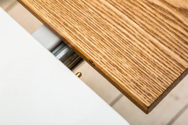 Jedálenský stôl Scandinavia 160-200cm biela dub