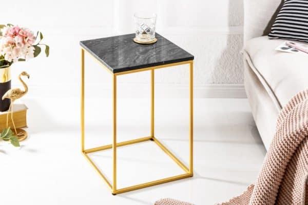 Konferenčný stolík Noble IV mramor čiernozlatá