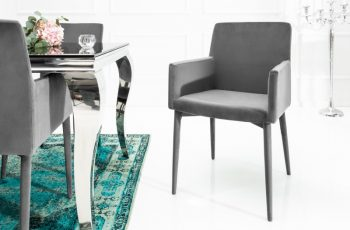 Stolička Milano zamat sivá Armlehne