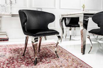 Stolička Modern Barock II čierna zamat