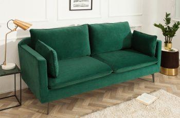 Sofa Famous 3er 210cm zelená zamat