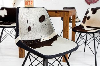 Stolička Toro čiernobiela kožušina