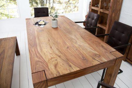 Drevený jedálenský stôl Makassar Sheesham 90 x 160cm