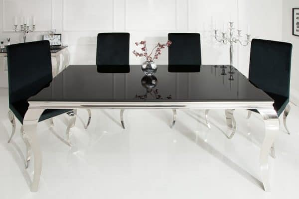 Jedálenský stôl Modern Barock 180cm čierna