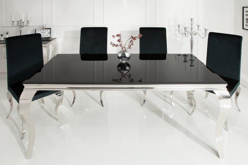 06a540cd8f7a Čierny jedálenský stôl Modern Barock 90 x 180 cm – 12 mm » » iKuchyne ESHOP  s nábytkom