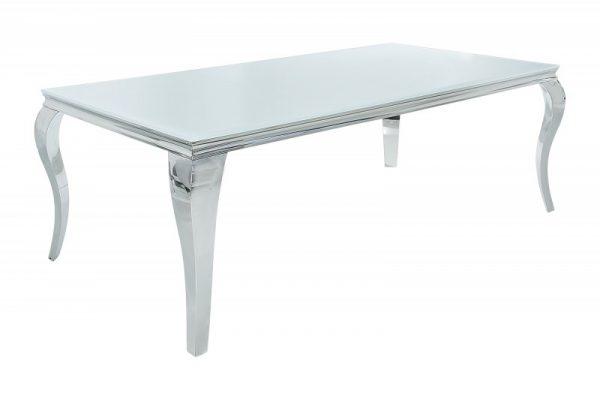 Jedálenský stôl Modern Barock 200cm biela strieborná