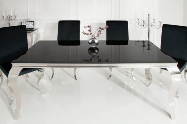 Jedálenský stôl Modern Barock 200cm čierna