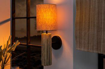 Nástenná lampa Euphoria II naplavené drevo