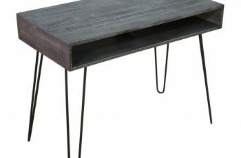Písací stôl Mantis 100cm sivá Mango
