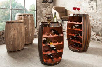 Regál na víno Chateau 60cm coffee