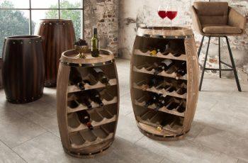 Regál na víno Chateau 60cm prírodná