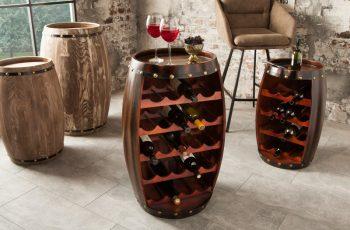Regál na víno Chateau 80cm coffee
