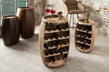 Regál na víno Chateau 80cm prírodná