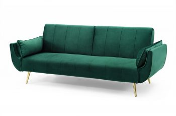 Rozkladacia pohovka Divani II 215cm zelená zamat zlatá