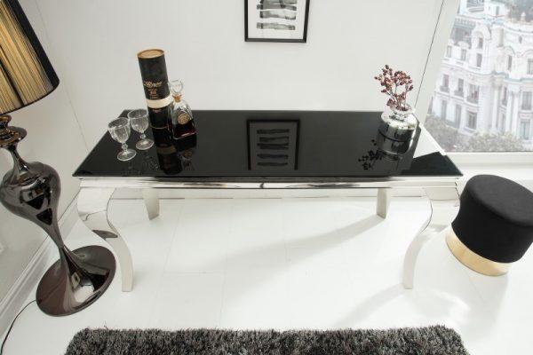 Stolík Modern Barock 140cm čierna