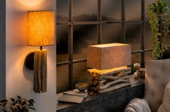 Stolová lampa Euphoria II naplavené drevo