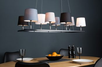 Závesná lampa Levels III čierna sivá biela