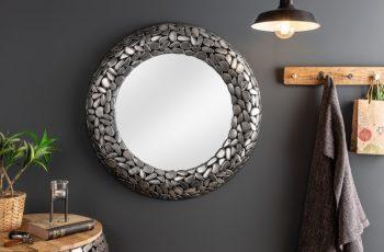 Zrkadlo Stone Mosaic 82cm strieborná