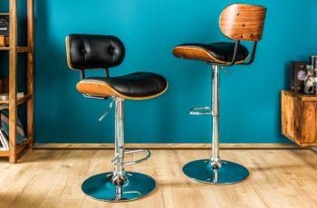 Barová stolička Classico 115cm čierna Walnuss