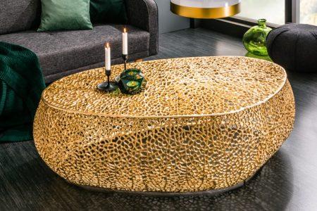 Konferenčný stolík Leaf 122cm zlatá