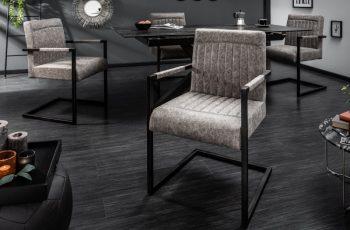 Stolička Big George vintage sivá