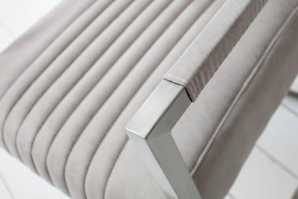 Bledosivá jedálenská stolička Big Aston »