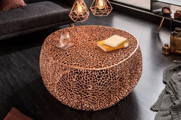 Medený konferenčný stolík Leaf 80cm »