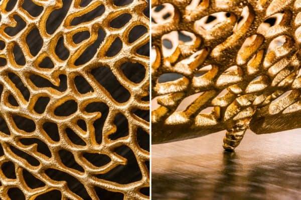 Zlatý konferenčný stolík Leaf 122cm »