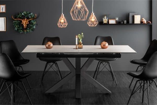 Jedálenský stôl Eternity 180-225cm betón keramika