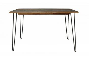 Jedálenský stôl Spider 120cm hnedá agát