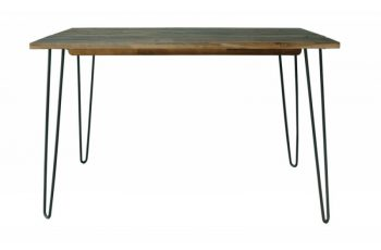 Jedálenský stôl Spider 120cm vintage hnedá agát