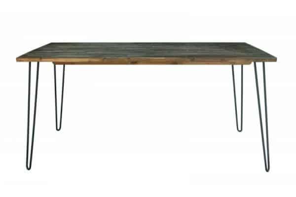 Jedálenský stôl Spider 160cm vintage hnedá agát