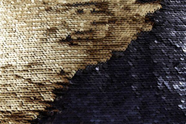 Kissen Pailetten zlatá čierna