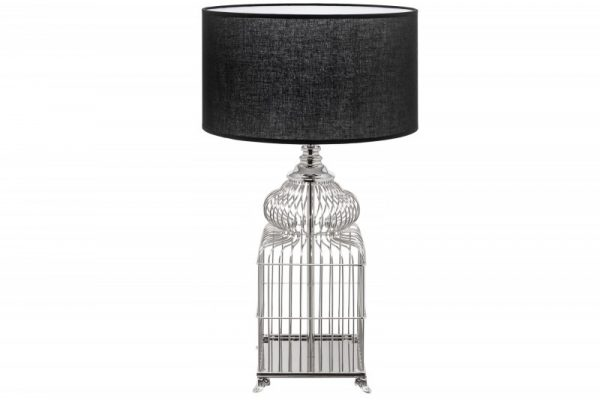 Stolová lampa Cage 68cm strieborná