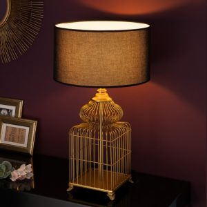 Stolová lampa Cage 68cm zlatá
