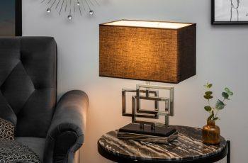 Stolová lampa Leonor 56cm strieborná