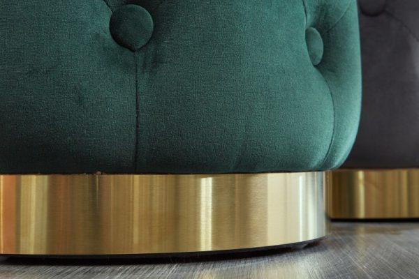 Taburet Modern Barock Chester dunkelzelená zlatá