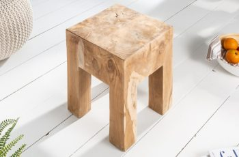 Taburet Molar 30cm prírodná teakové drevo