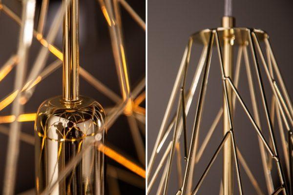 Závesná lampa Cage L zlatá
