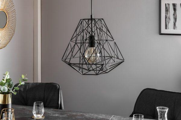 Závesná lampa Cage S čierna