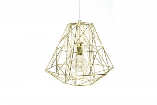 Závesná lampa Cage S zlatá