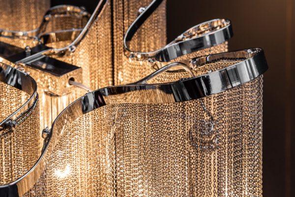 Závesná lampa Elegance 118cm strieborná