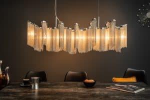 Závesná lampa Elegance 76cm strieborná