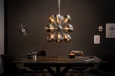 Závesná lampa Galaxy 72cm strieborná
