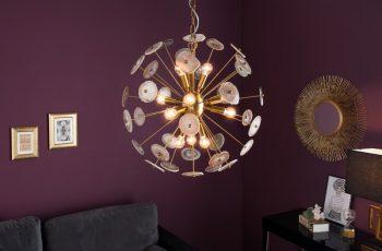 Závesná lampa Onyx 60cm zlatá Edelsteine