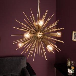 Závesná lampa Sunlight 50cm zlatá