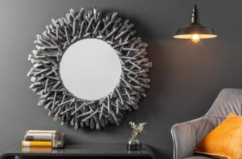 Zrkadlo Riverside 80cm sivá naplavené drevo