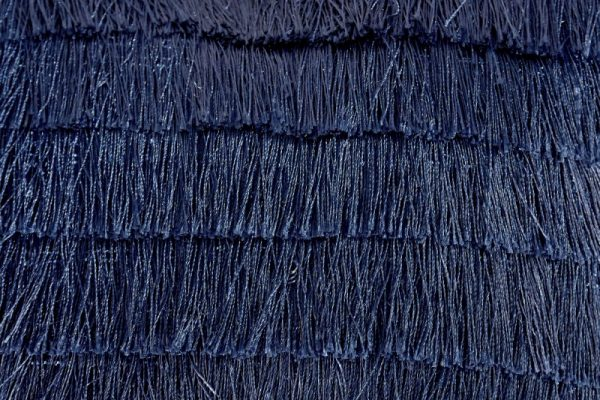 zamatkissen / Fransen dunkelblau