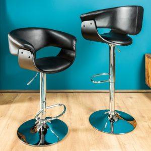 Barová stolička Modern 110cm čierna strieborná