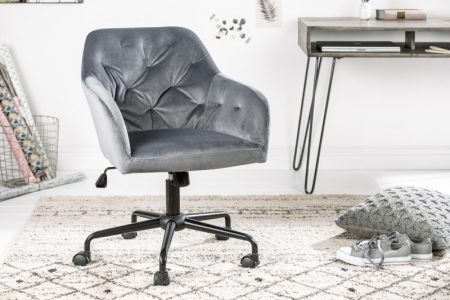 Sivá kancelárska stolička Dutch Comfort